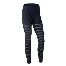 U Women's Yoga Pants Mesh Stripe Panel Compression Tights Running Fitness Trousers Elastic Skins Yoga Leggings Sports Bottom