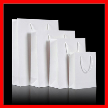 (100PCS/lot) 10 SIZE available wholesale 250gsm cardboard paper shopping bag