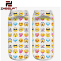 ZHBSLWT 21 Colors You can choose Lovely smiling face 3D Print Animal women Socks Casual cartoon Socks Unisex Low Cut Ankle Socks