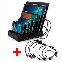 AC100 240V USB Charger Hub DC5V 7 Port Quick Charging Station For Android Apple Mobile Phone