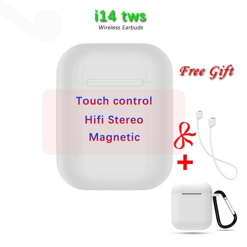 I14 TWS mini fone de Ouvido Sem Fio Bluetooth 5.0 Fone De Ouvido Fones de Ouvido fones de Ouvido Controle de Toque Esporte Fones De Ouvido audifonos elari de para celular