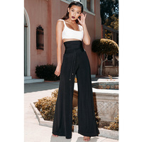 Women 2 Pieces Set Top And Pants Autumn Fashion Sexy Casual Strapless Black Playsuit For Ladies Casual Party Suit Black Pants