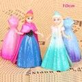 2016 NEW hot 12CM Anna Elsa Toys 2 Pcs/Set Best action figure toys Cool Christmas gift doll