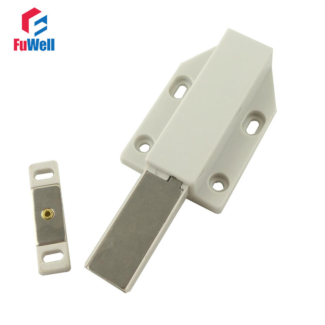 2pcs Magnetic Door Catches Stops Push to Open Plastic Holder Latch ...