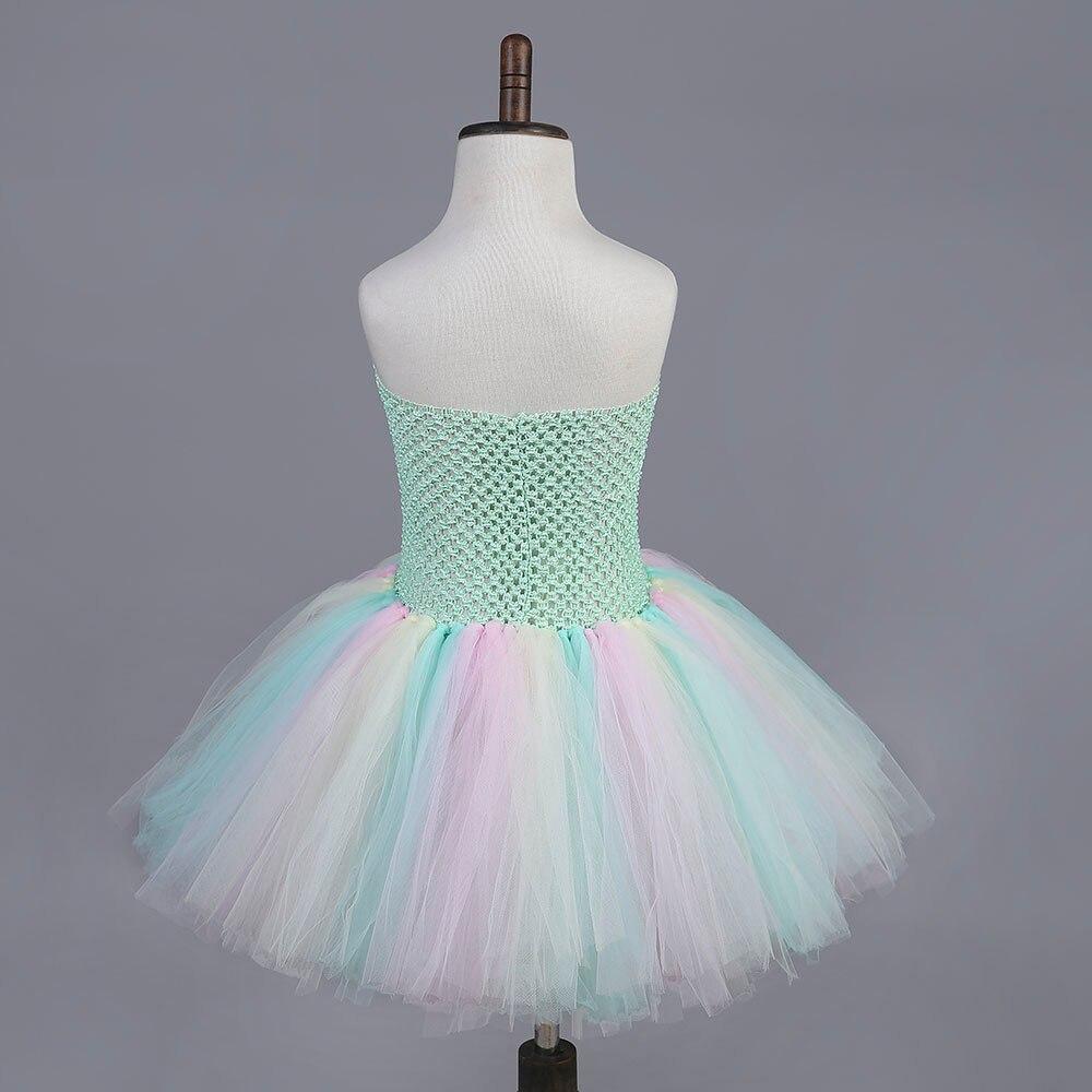 DIY Girl Dress Mint Green Flower Kids Dress for Girls Pageant Tutu ...