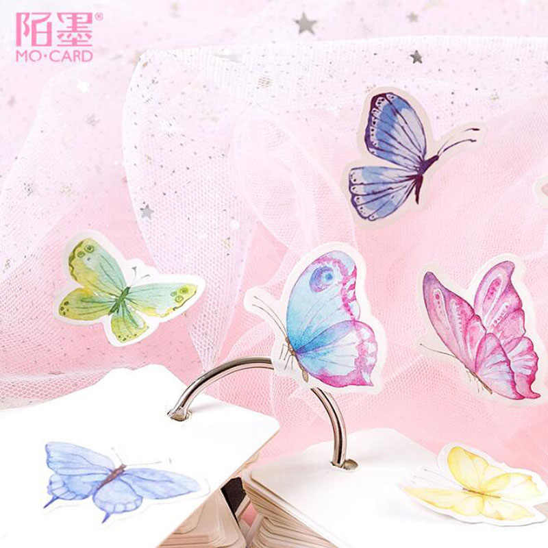 45pcs Butterfly Garden Stickers Kawaii Diary Handmade Adhesive Paper Flake Japan Sticker Scrapbooking Stationery Travel Stickers