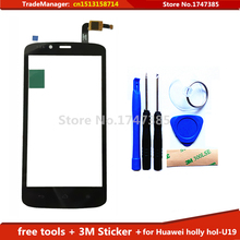 tools+3M adhesive Original New Touch Screen Digitizer Repair Parts for Huawei Ascend honor holly hol-U19 Free Shipping