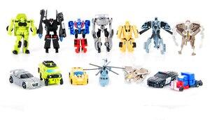 Image 2 - 1 pcs 변환 어린이 클래식 로봇 자동차 완구 어린이 액션 & 장난감 피규어 무료 배송