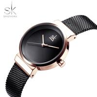 Shengke SK 2019 Fashion Watches Women Ladies Quartz Creative Wrist Watch Female Clock Female Hour Rosegold Ladies Girls Famous