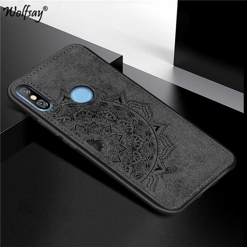 Xiaomi Redmi 6 Pro Shockproof Soft TPU Silicone Cloth Texture Hard PC Phone Case For Xiaomi Redmi 6 Pro Cover Xiaomi Redmi 6 Pro in Fitted Cases from Cellphones Telecommunications