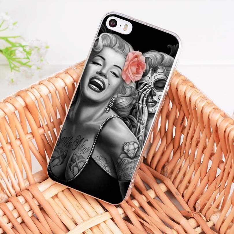 Maiyaca Audrey Hepburn Marilyn Monroe Mềm TPU Ốp Lưng Điện Thoại Cho iPhone 8 7 6 6S 6S Plus X XS XR XS Max 5 5S SE 4S 11pro Max Ốp Lưng