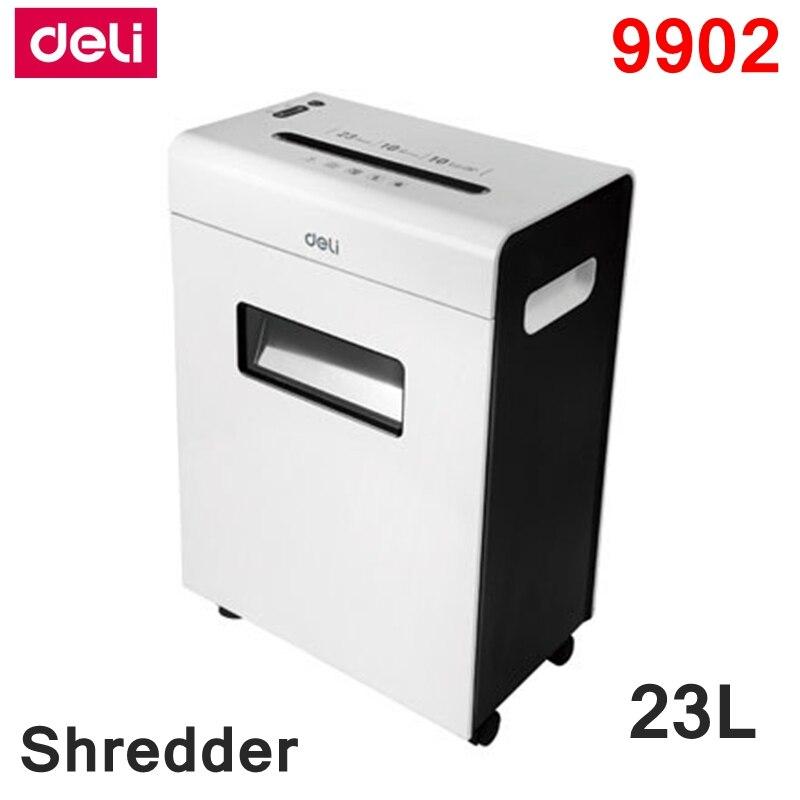 [ReadStar] Deli 9902 défibreur de papier électrique bureau 23L volume 220-230VAC/50Hz économie d'énergie arrêt automatique type de tiroir de défibreur de papier