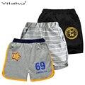 Activo niños de los cortocircuitos del muchacho rayado ropa number carta impresión de las estrellas cabritos de los pantalones cortos sueltos niños sport shorts ci032