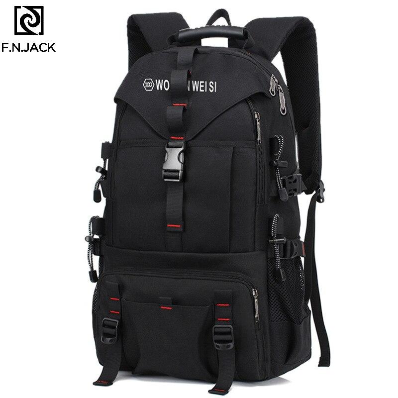 F. N. JACK nouveaux sacs de voyage créatifs grande capacité mode ordinateur épaule sac à dos en plein air sacs pour hommes sac à dos Causual