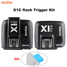 GODOX X1C Flash trigger kit 2.4GHz 1/8000s Wireless E-TTL Transmitter and Receiver Flash Trigger for canon Transmitter Receiver godox x1c n s ttl flash trigger 1 8000s hss 32 channels 2 4g wireless strobe trigger transmitter receiver for nikon canon sony