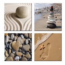 4pcs/set Sea view stone Pictures Prints on Canvas Walls Art Work Modern Giclee Wall Artwork free shipping CJ-HJ-1