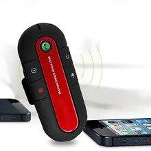 Recargable Coche Bluetooth Kit de Coche Manos Libres Altavoz Del Teléfono Inalámbrico Magnético Delgado Reproductor de Música Clip de Visera con Cargador de Coche