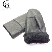 Winter Work Gloves Men Sheepskin Gloves Genuine Leather Gloves For Men Winter Warm Fur Thick Gloves