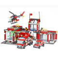Super grande estação de fogo 774 pcs blocos de construção kazi helicóptero educacional brinquedo tijolos blocos compatível com lego city fire