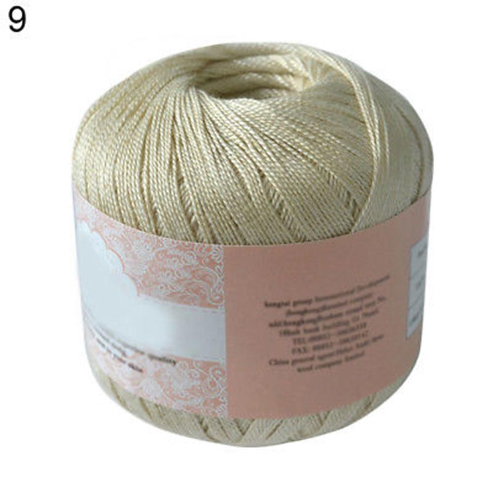 400 метров хлопчатобумажная нить для вязания крючком инструмент для рукоделия ручной работы - Цвет: camel