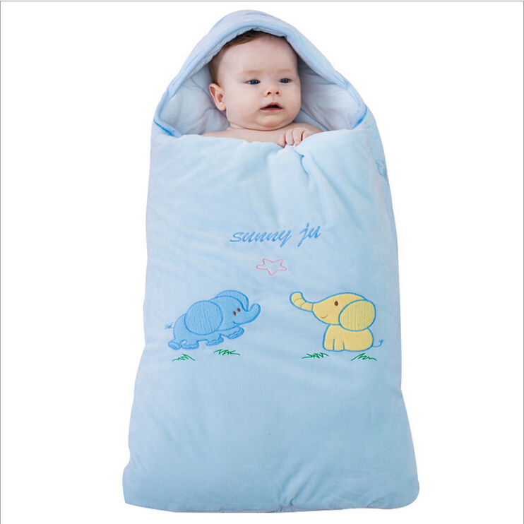Elephant Baby Sleeping Bags Korea Cashmere Envelopes For Newborns Multifunction Super Soft Bag Winter Swaddling In Sleepsacks From Mother