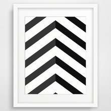 Preto Chevron Geométrica Chevron Lona Pintura A Óleo Arte Da Parede Poster Modern Canvas Pictures para Living Room Home Decor unframed(China)