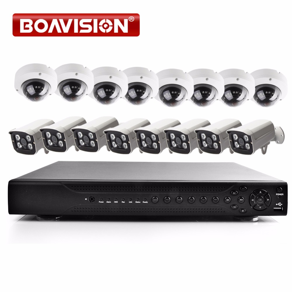 Secuity Camera System 1080P 16CH AHD CCTV DVR Security System KIT 8PCS Bullet +Outdoor IR Dome AHD Camera 2MP Surveillance Kits