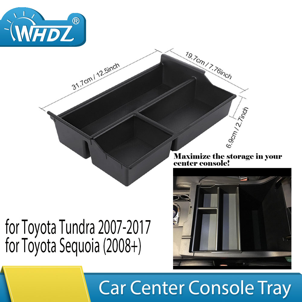 HIGH FLYING Central Console Armrest Storage Glove Box Organizer for Toyota Sienna 2010-2017