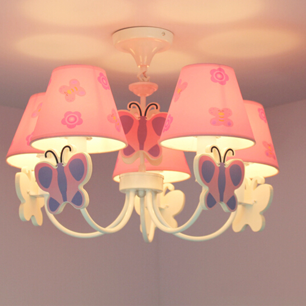 Led Home Lighting Lamp Butterfly Modern Chandelier Kids Room Cartoon LED Chandeliers for The Bedroom E14 110V-220V Led Lamps art deco led modern chandelier lighting dining room fashion diy creative simplicity 110v 220v home chandeliers lamp bedroom