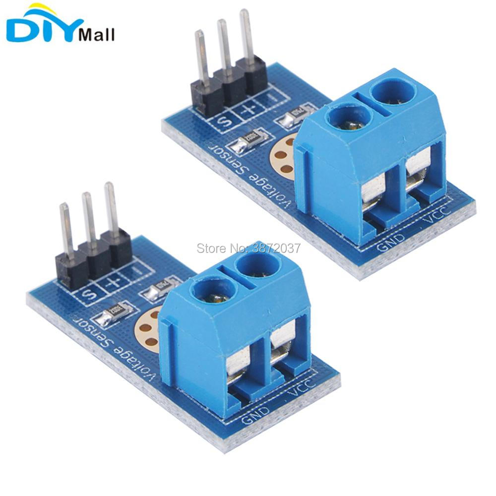 2pcs/lot Voltage Detection Sensor Measurement Test Module Electronic Bricks DC 0-25V for Arduino UNO Mega Robot Smart Car