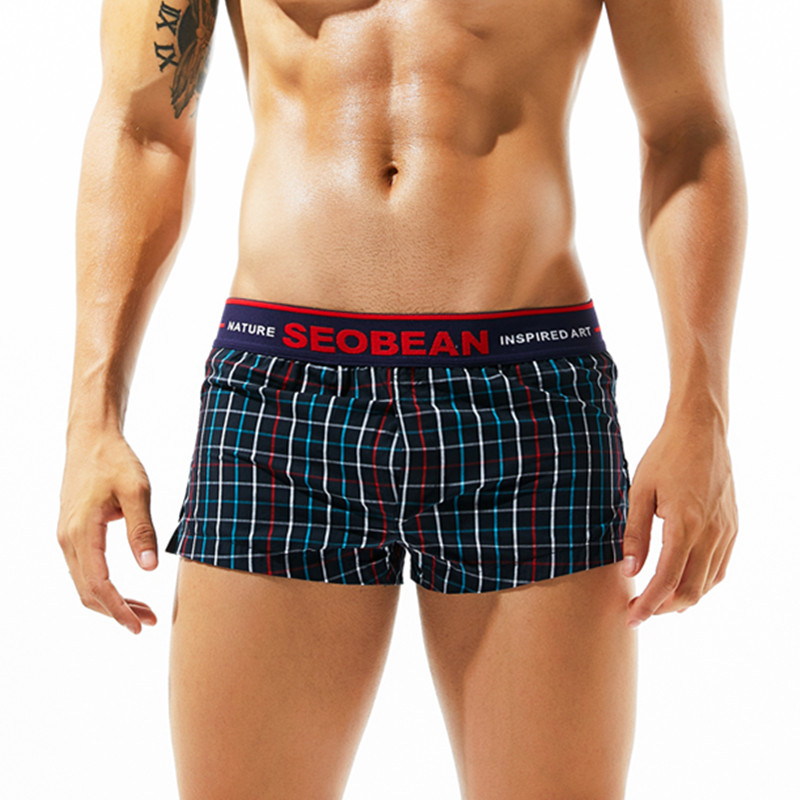 2018 New seobean Men's shorts casual shorts cotton fashion home shorts