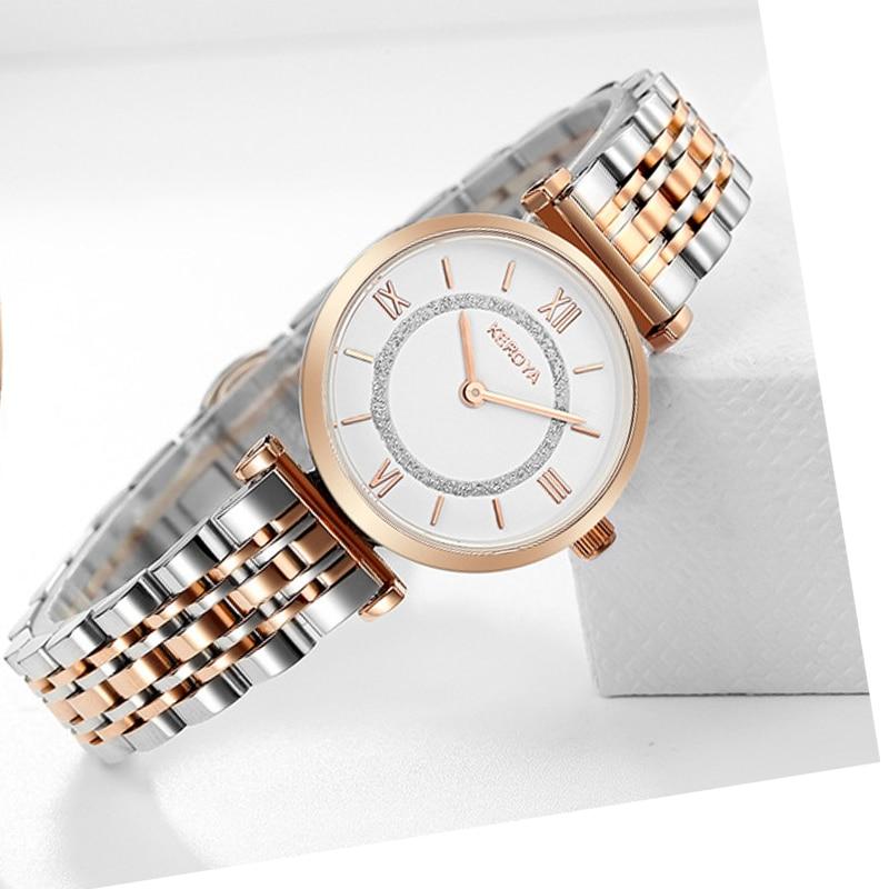 Stainless Steel Classic Women Watches Luxury Brand Rose Gold Bracelet lady wrist watch women dress female clock montre femme
