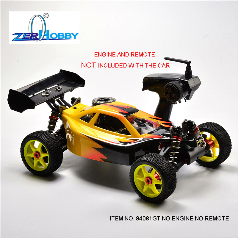 HSP RACING RC CAR TOYS 1/8 BAZOOKA ITEM 94081GT WITHOUT ENGINE AND WITHOUT REMOTE CONTROL zd racing 1 8 08421 a full bearing set rc car remote control toys car parts original free shipping 8109