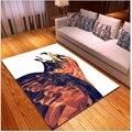 AOVOLL коврики и ковры для дома  гостиной  3D ковер с животным узором  коврики для спальни  столовой  Рождественский ковер  детская комната