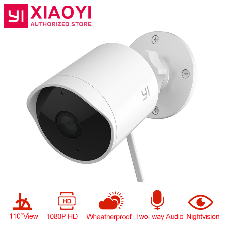 US $71 27 28% OFF|YI Xiaomi Outdoor Security Camera 1080P HD Two way Audio  IP Waterproof Cloud Cam Wireless Night Vision Surveillance System-in