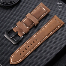 LPWHH Frosted Genuine Leather Strap For Samsung Watch Band 22mm 24mm 26mm Army Green Brown Black Pin Buckle Soft Watchbands