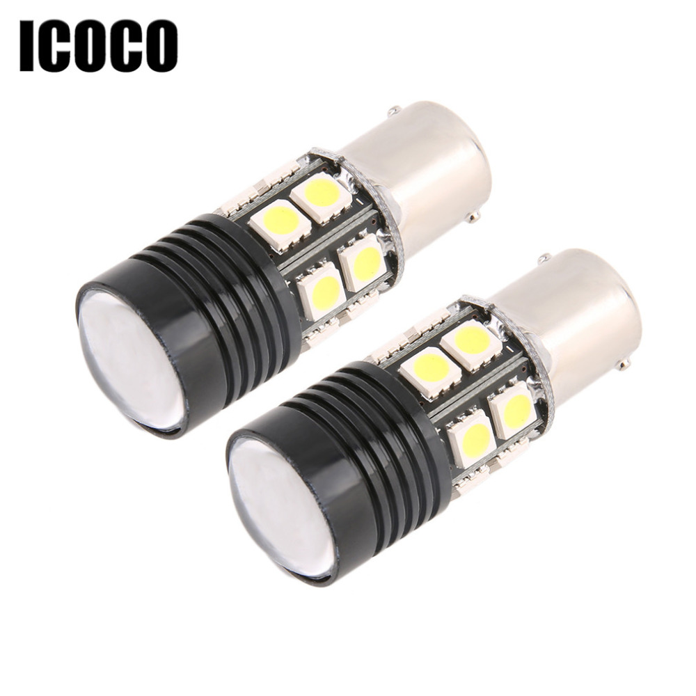 ICOCO 2pcs Car Led Turn Signal Reverse Light Backup Bulb 1156/7506/BA15S/P21W For Canbus wljh 2x canbus 20w 1156 ba15s p21w led bulb 4014smd car backup reverse light lamp for bmw 228i 320i 328d 328i 335i m3 x1 x4 2015