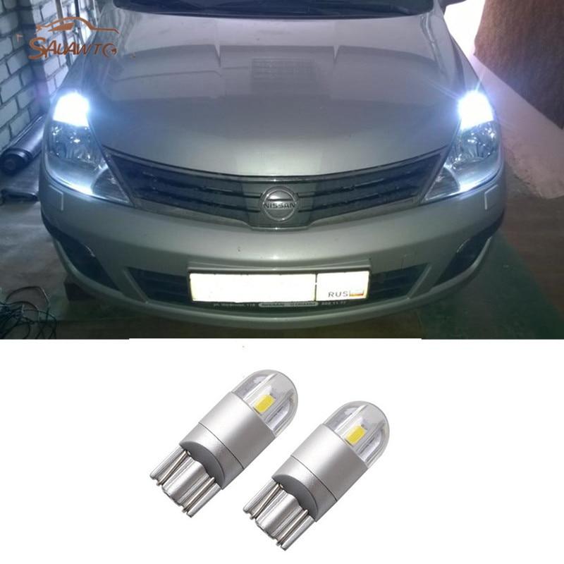 2x T10 светодиодный W5W, сигнализирующий фонарь просвет светильник для Nissan Qashqai Juke Almera X-trail Tiida Примечание Primera Pathfinder Sentra X-trail
