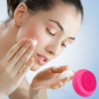 Mini silicone cleanser, silicone Pore Cleaner, vibration waterproof, rechargeable face wash instrument, ultra small