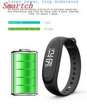 Smartch E26 фитнес-трекер монитор сердечного ритма Смарт часы крови Давление умный Браслет Для Сяо Mi mi Группа 2 PK QS80