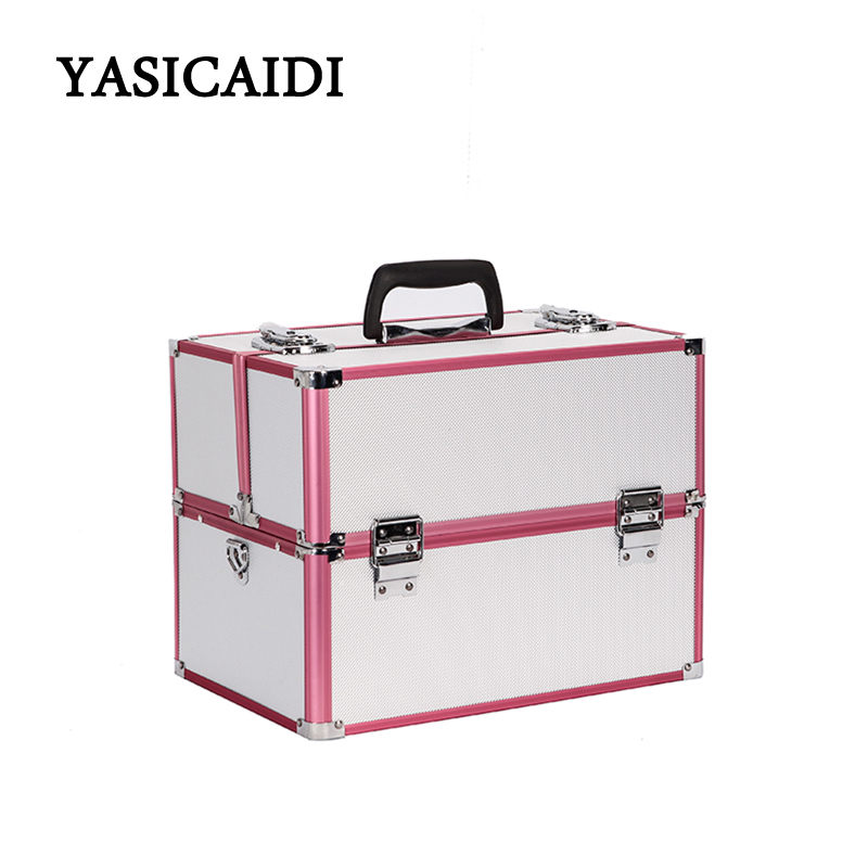 Women Cosmetic Box Designer High Quality Portable Cosmetic Bag Large Capacity PU Cosmetic Case Travel Makeup Organizer Bag new arrive hot 2pc set portable jewelry box make up organizer travel makeup cosmetic organizer container suitcase cosmetic case