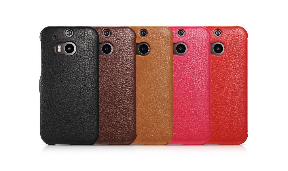 Free shipping mobile phone leather protector case For HTC M8 luxury icarer brand flip Cell phone