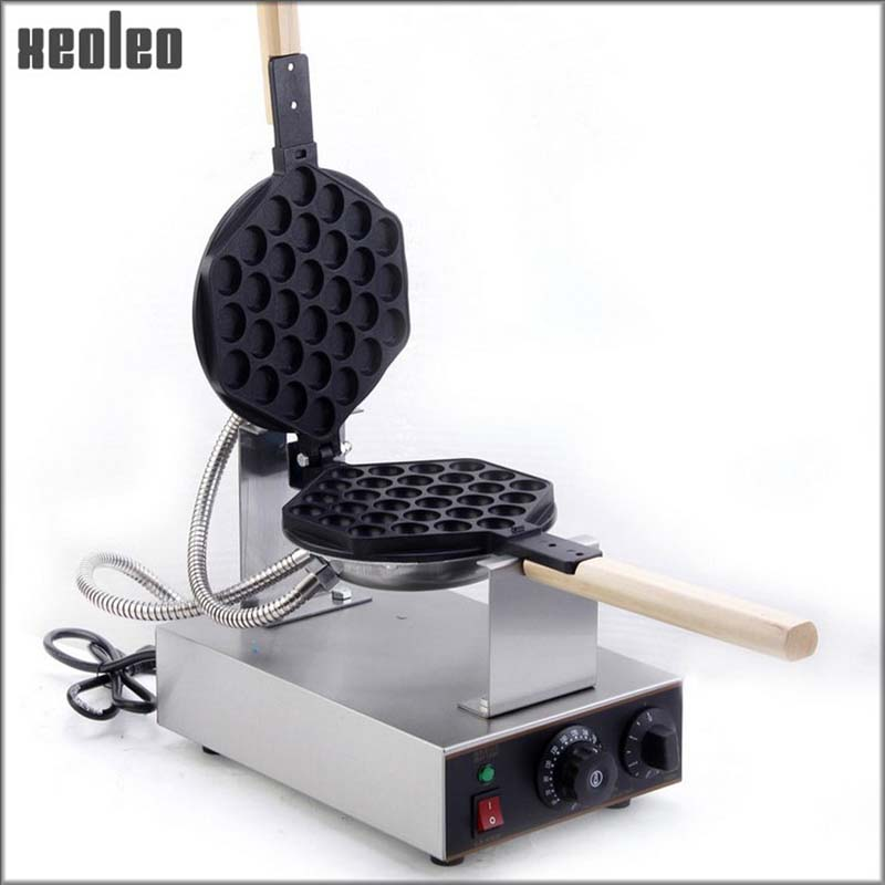Xeoleo Hongkong QQ Egg Waffle Maker Bubble egg cake oven 180 degrees Rotated Stainless steel  Egg puff cake waffle make machine pc version digital stainless steel egg waffle maker machine egg puff machine bubble waffle machine non stick egg cake oven