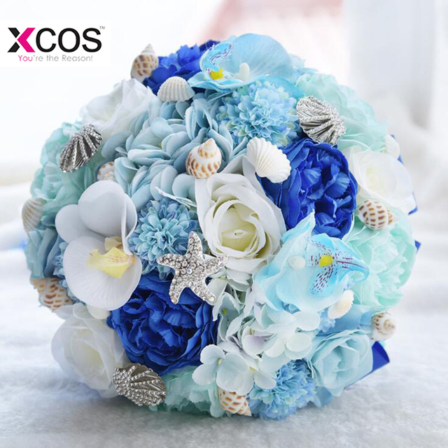 Gorgeous Blue Royal Blue Beach Wedding Flower Bridal