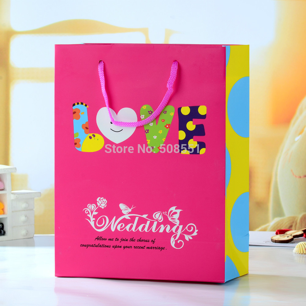 high quality recyclable paper bag wedding Gift bags with handles ...