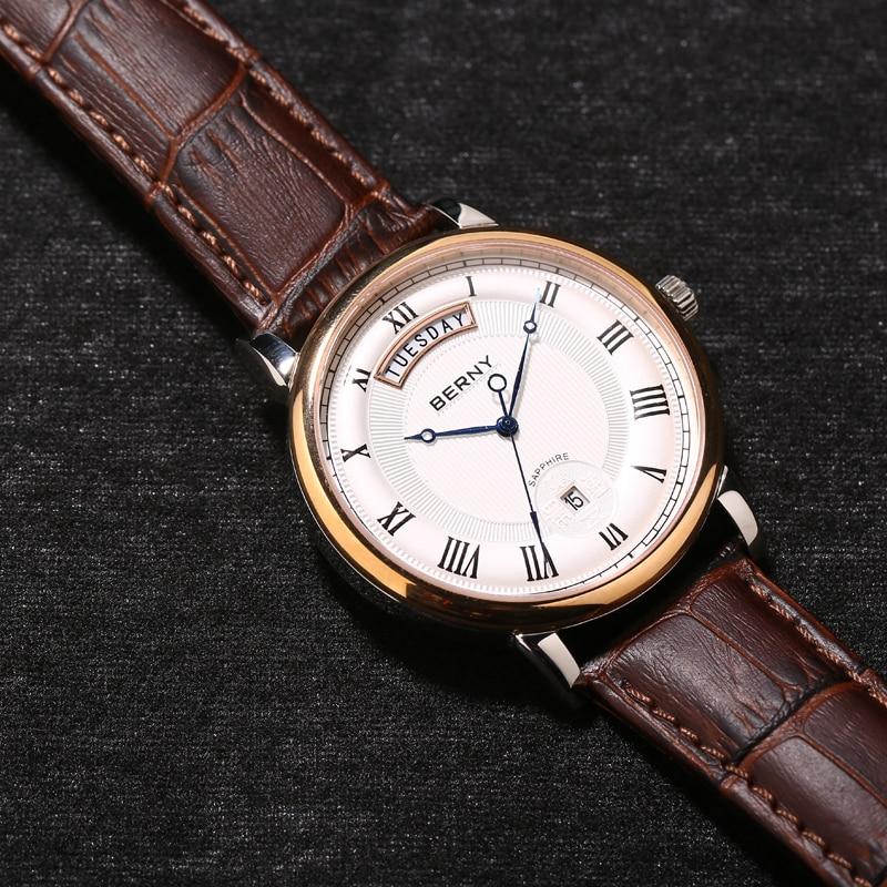 Berny Cuarzo Amante Relojes Moda Top Marca de Lujo Relogio Saat - Relojes para hombres - foto 4