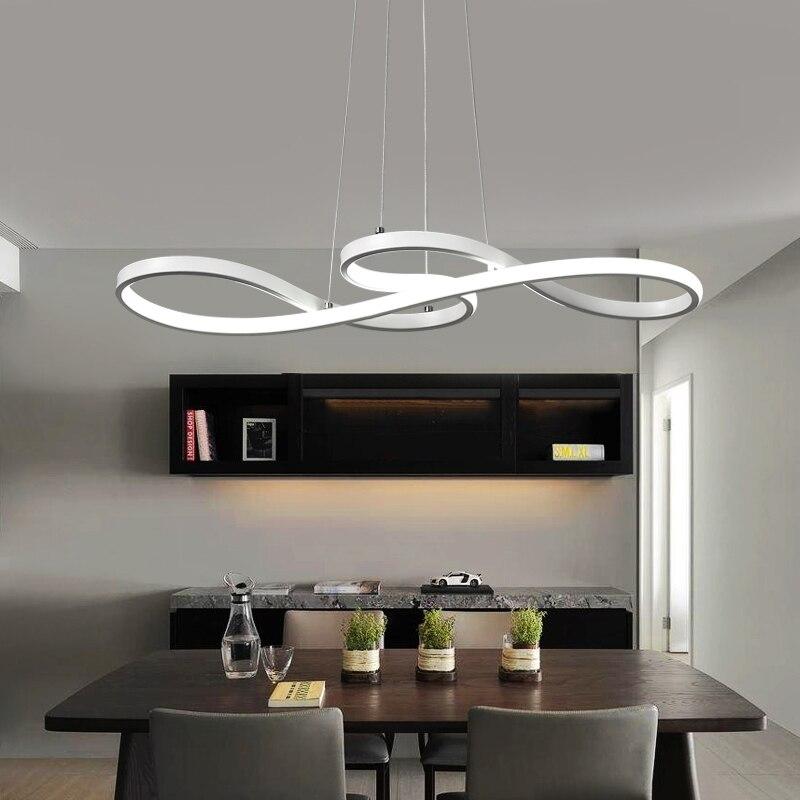 Minimalisme bricolage suspendus lumières de pendentif LED modernes pour salle à manger barre suspension luminaire suspendu suspension luminaire - 6