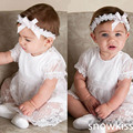 2016 summer lace Ankle length Short Baby Christening gowns boys girl Blessing Dresses With Bonnet Heirloom first communion dress