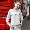 2017 New Fashion Summer Women T Shirts Sapling Embroidery Top Tees Printed Loose Style T Shirts Casual Women Tops