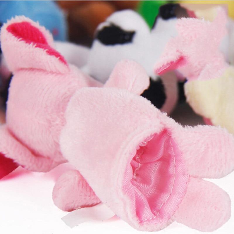VICIVIYA-10PcsSet-Cute-Cartoon-Biological-Animal-Finger-Puppet-Plush-Toys-Child-Baby-Favor-Dolls-Boys-Girls-Finger-Puppets-3